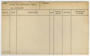 [Client Card: Professor Lewis Atherton]