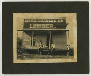 [Photograph of John E. Quarles Co. Lumber]