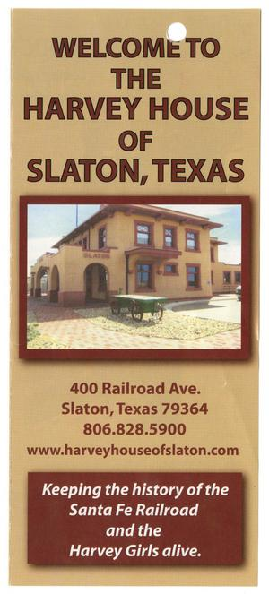 Primary view of object titled '[Slaton, Texas Harvey House Brochure]'.