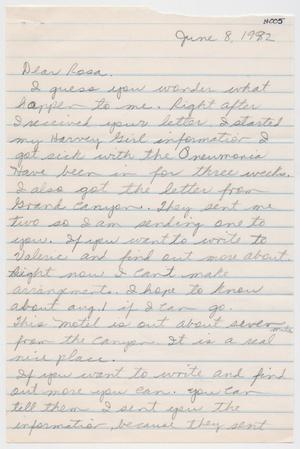 [Letter from Madge Saenz to Rosa Walston Latimer - June 8, 1992]
