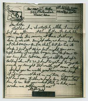 Primary view of object titled '[Letter from John Todd Willis, Jr. to his Parents, July 4, 1944]'.