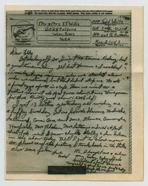 Primary view of object titled '[Letter from John Todd Willis, Jr. to his Parents, May 21, 1943]'.
