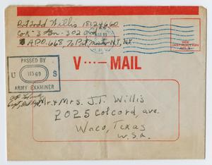 Primary view of object titled '[Letter from John Todd Willis, Jr. to his Parents, March 20, 1943]'.
