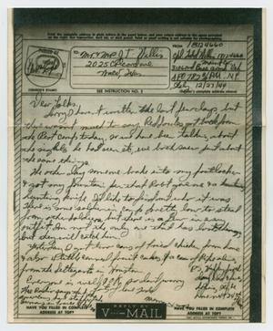 Primary view of object titled '[Letter from John Todd Willis, Jr. to his Parents, December 23, 1944]'.