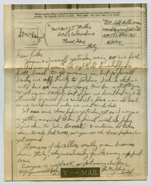 Primary view of object titled '[Letter from John Todd Willis, Jr. to his Parents, June 9, 1944]'.