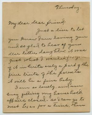Primary view of object titled '[Letter from Lulu Wilson to Clara Evans Willis, 1925]'.