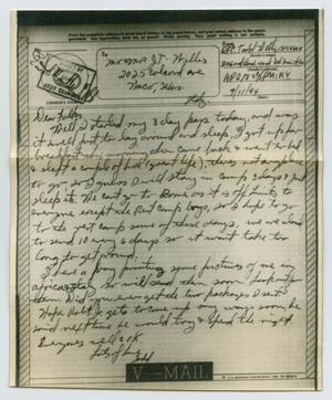 Primary view of object titled '[Letter from John Todd Willis, Jr. to his Parents, September 11, 1944]'.
