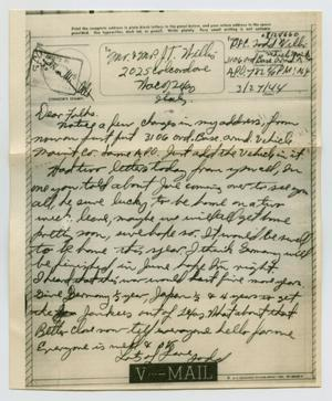 Primary view of object titled '[Letter from John Todd Willis, Jr. to his Parents, March 27, 1944]'.