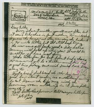 Primary view of object titled '[Letter from John Todd Willis, Jr. to his Parents, July 21, 1944]'.