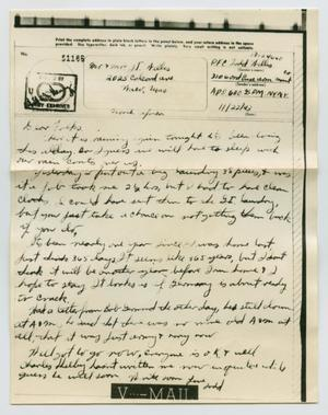 Primary view of object titled '[Letter from John Todd Willis, Jr. to his Parents, November 22, 1943]'.