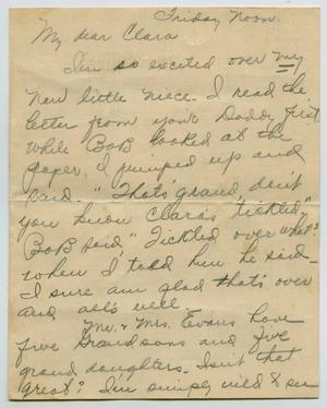 Primary view of object titled '[Letter from Ruth Evans to Clara Evans Willis, 1925]'.
