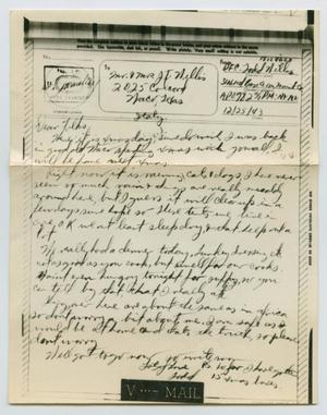 Primary view of object titled '[Letter from John Todd Willis, Jr. to his Parents, December 25, 1943]'.