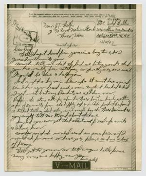 Primary view of object titled '[Letter from John Todd Willis, Jr. to John T. Willis, Sr., December 10, 1943]'.