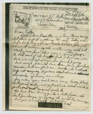 Primary view of object titled '[Letter from John Todd Willis, Jr. to his Parents, September 24, 1944]'.