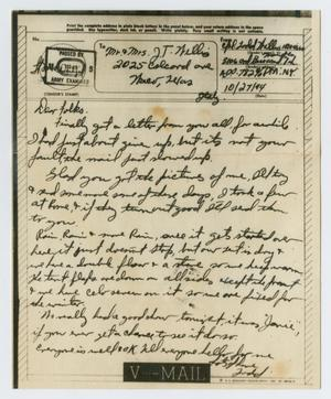Primary view of object titled '[Letter from John Todd Willis, Jr. to his Parents, October 27, 1944]'.