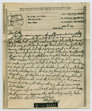 Primary view of object titled '[Letter from John Todd Willis, Jr. to his Parents, August 5, 1943]'.