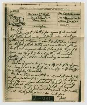 Primary view of object titled '[Letter from John Todd Willis, Jr. to his Parents, November 15, 1943]'.