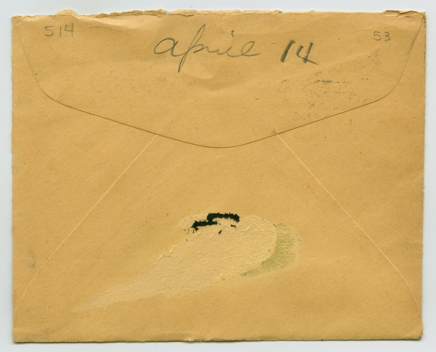 [Letter from John Todd Willis, Jr. to his Parents, April 1, 1944]                                                                                                      [Sequence #]: 4 of 4