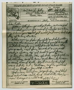 Primary view of object titled '[Letter from John Todd Willis, Jr. to his Parents, June 20, 1944]'.
