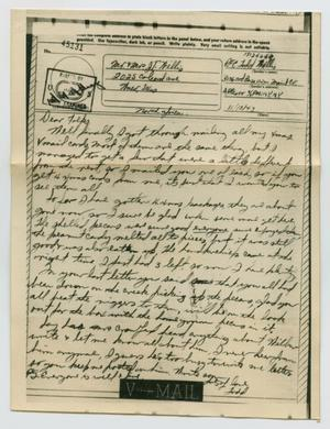 Primary view of object titled '[Letter from John Todd Willis, Jr. to his Parents, November 10, 1943]'.