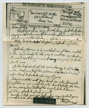 Primary view of object titled '[Letter from John Todd Willis, Jr. to his Parents, May 17, 1944]'.