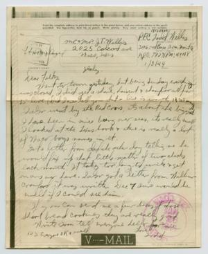 Primary view of object titled '[Letter from John Todd Willis, Jr. to his Parents, January 3, 1944]'.