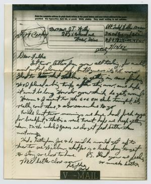 Primary view of object titled '[Letter from John Todd Willis, Jr. to his Parents, July 10, 1944]'.