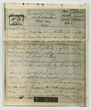 Primary view of object titled '[Letter from John Todd Willis, Jr. to his Parents, March 2, 1944]'.
