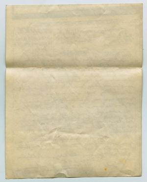 Primary view of object titled '[Letter from John Todd Willis, Jr. to his Parents, October 20, 1943]'.