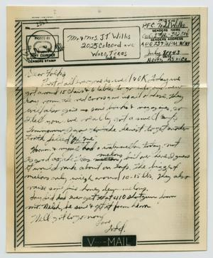 Primary view of object titled '[Letter from John Todd Willis, Jr. to his Parents, July 8, 1943]'.