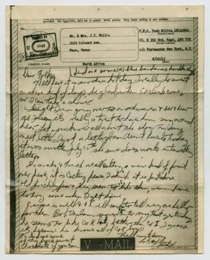 Primary view of object titled '[Letter from John Todd Willis, Jr. to his Parents, August 20, 1943]'.