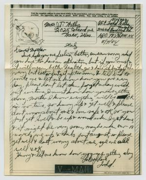 Primary view of object titled '[Letter from John Todd Willis, Jr. to Clara Evans Willis, May 7, 1944]'.