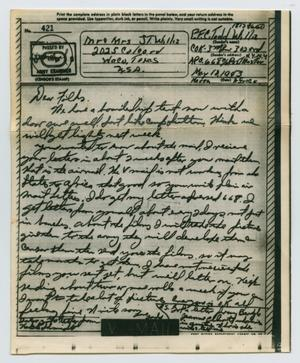 Primary view of object titled '[Letter from John Todd Willis, Jr. to his Parents, May 18, 1943]'.