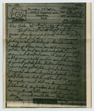 Primary view of object titled '[Letter from John Todd Willis, Jr. to his Parents, April 30, 1943]'.