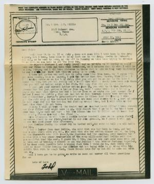 Primary view of object titled '[Letter from John Todd Willis, Jr. to his Parents, July 17, 1943]'.