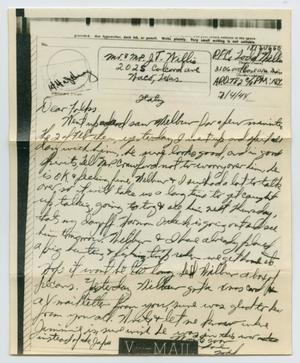 Primary view of object titled '[Letter from John Todd Willis, Jr. to his Parents, February 4, 1944]'.