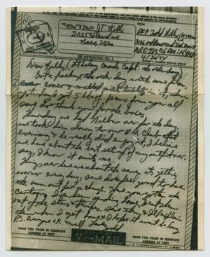 Primary view of object titled '[Letter from John Todd Willis, Jr. to his Parents, April 30, 1944]'.