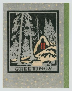 Primary view of object titled '[Christmas Card to Johnie Louise Bruyere]'.
