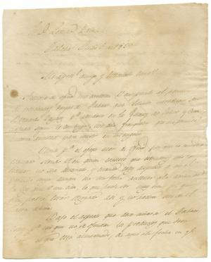 Primary view of object titled '[Letter from Santa Anna to Zavala, July 5, 1829]'.