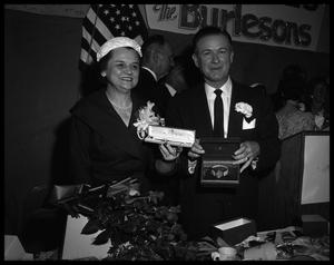 Primary view of object titled 'Mr. and Mrs. Omar Burleson at Banquet'.