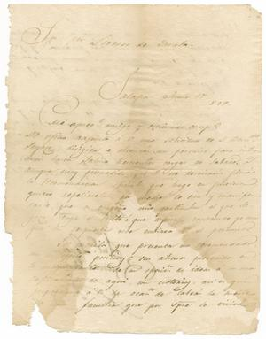 [Letter from Santa Anna to Zavala, June 17, 1829]