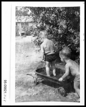 Primary view of object titled '1940s Boys in Wagon'.
