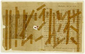 Primary view of object titled '[Letter from W. D. Miller to Mrs. Sam Houston, October 10, 1844]'.