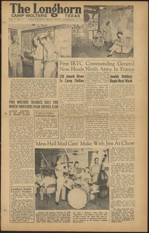 The Longhorn (Camp Wolters, Tex.), Vol. 4, No. 12, Ed. 1 Friday, September 15, 1944