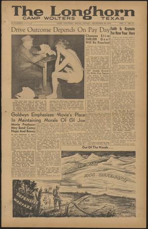 The Longhorn (Camp Wolters, Tex.), Vol. 4, No. 27, Ed. 1 Friday, December 29, 1944