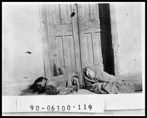 Primary view of object titled 'Dead Man by Doors'.