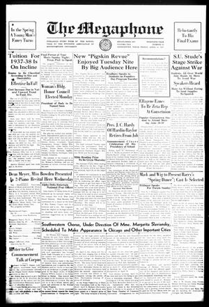 Primary view of The Megaphone (Georgetown, Tex.), Vol. 30, No. 26, Ed. 1 Friday, April 23, 1937
