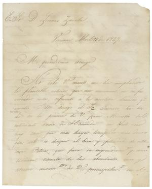 Primary view of object titled '[Letter from Santa Anna to Zavala, April 18, 1829]'.