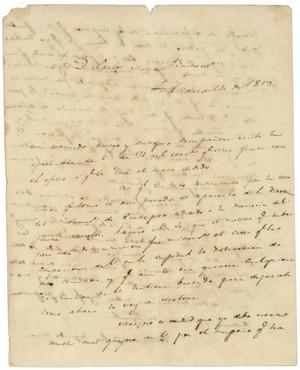 Primary view of object titled '[Letter from Lorenzo de Zavala to Carlos Maria Bustamante, March 24, 1829]'.