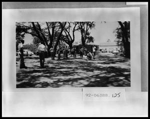 Primary view of object titled 'Westminster Fellowship- Boys Playing Washers'.